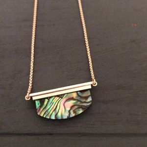 Kendra Scott Abalone Gold Adjustable Necklace